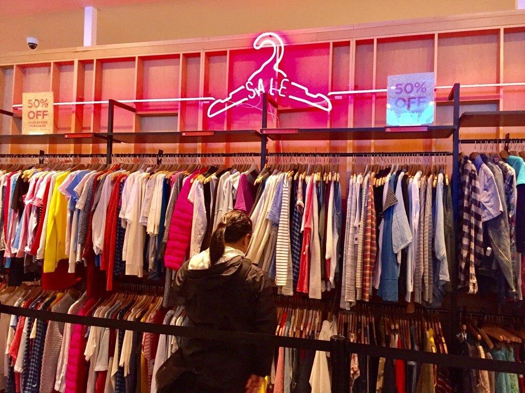 Sale rack clothes
