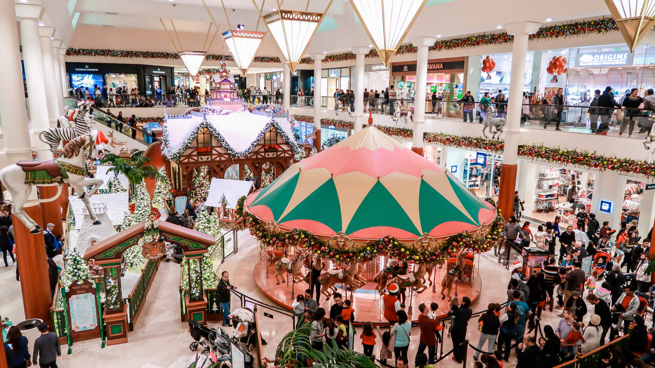 festive shopping mall