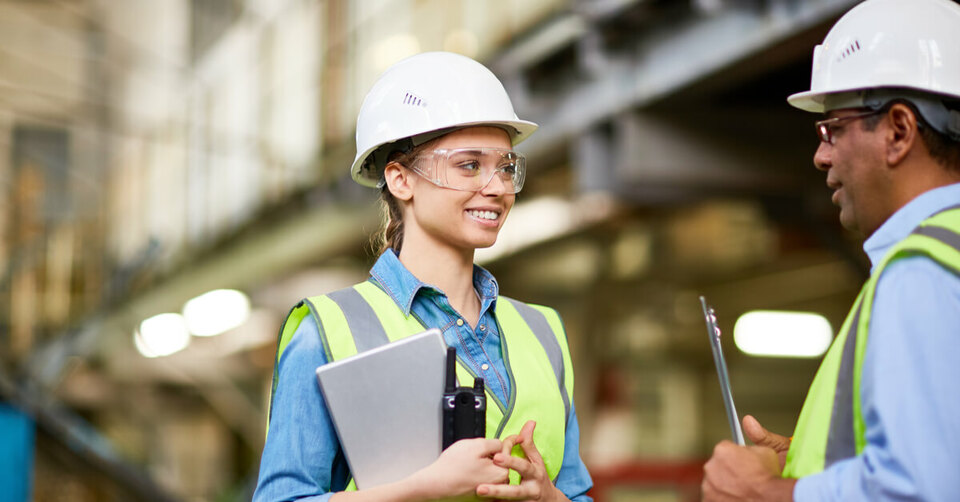 Young woman on energy apprenticeship