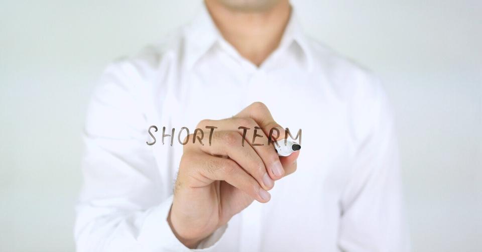 Man with short term target