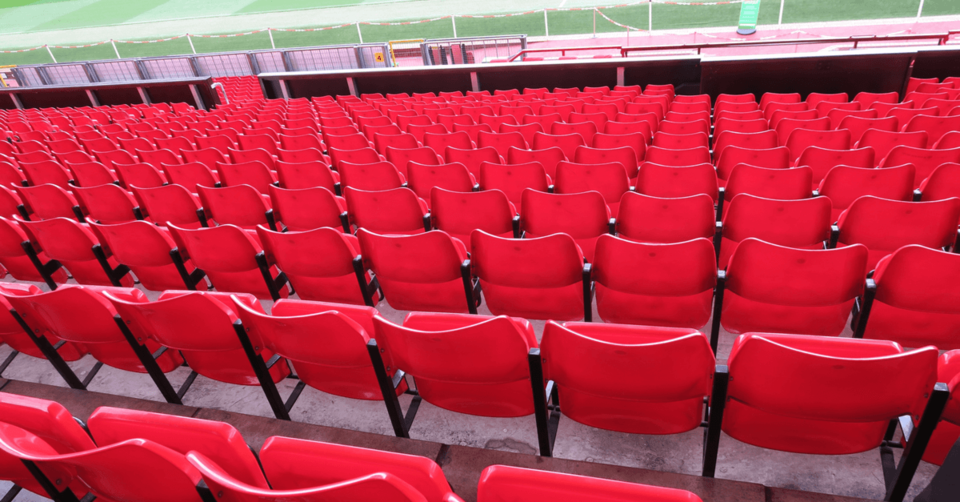 Red seats at Man Utd stadium