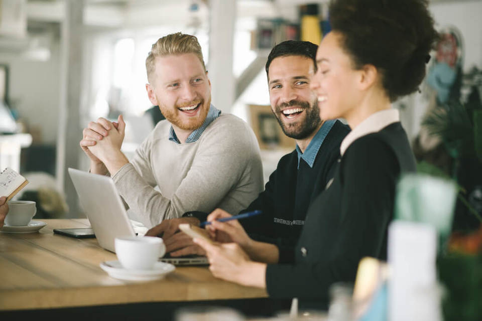 employees happy and engaged at work