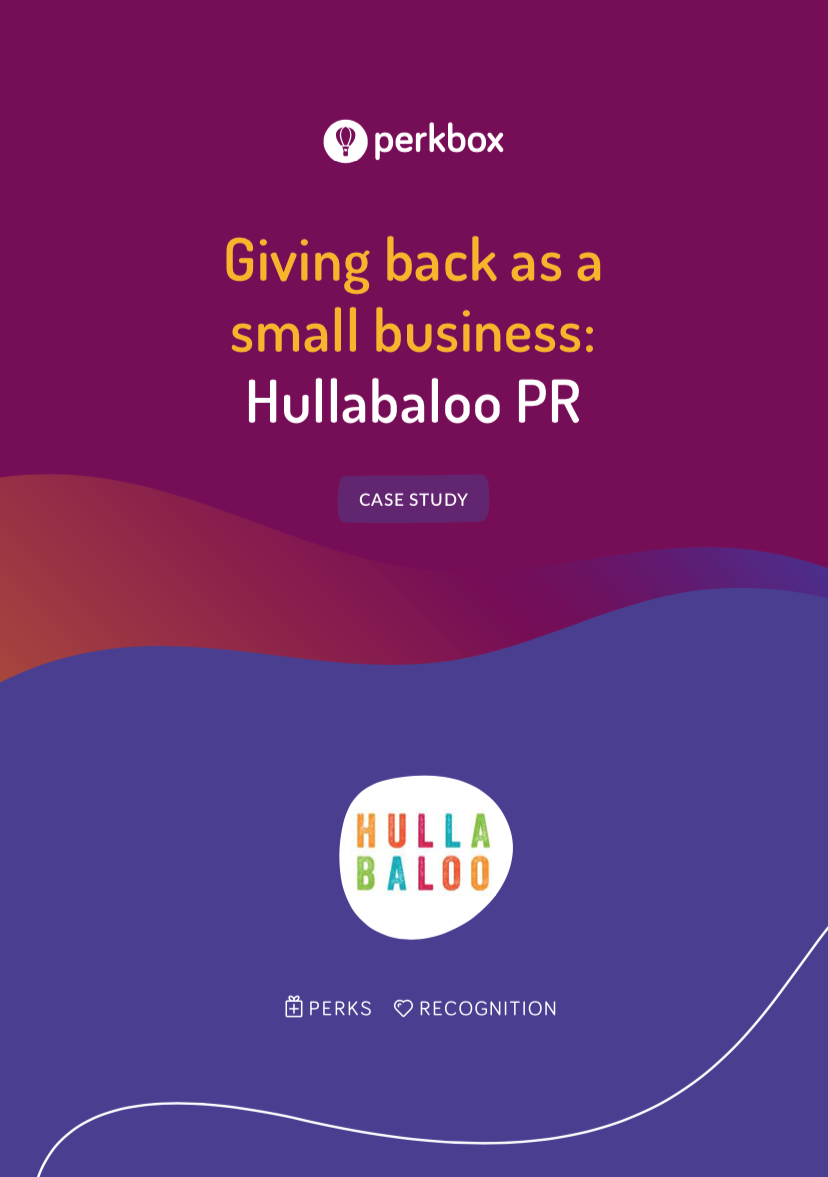 Giving back as a small business: Hullabaloo PR